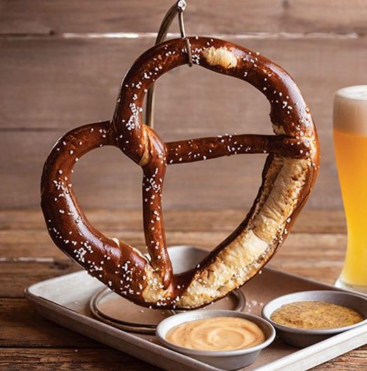 German Pretzel and beer